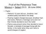 fruit of the poisonous tree missouri v seibert s ct 28 june 2004