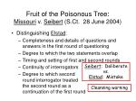 fruit of the poisonous tree missouri v seibert s ct 28 june 200483