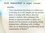 risk management legal issues25