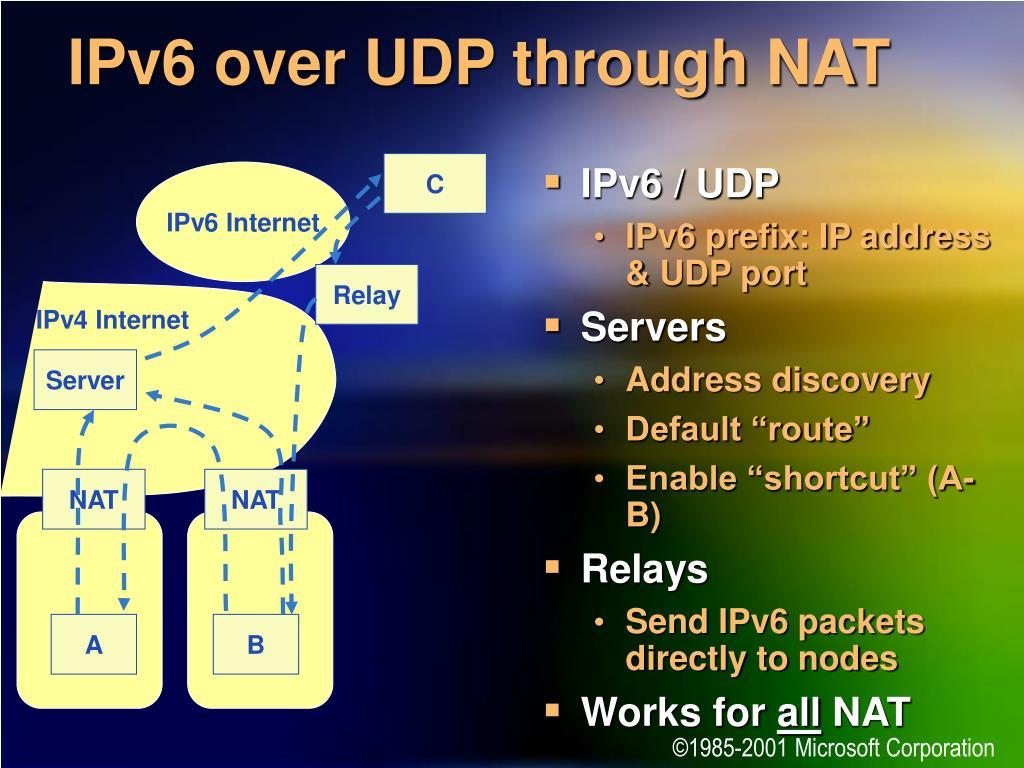 IPv6 / UDP