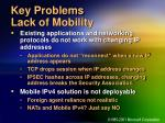 key problems lack of mobility