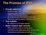 the promise of ipv6