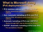 what is microsoft doing ipv6 deployment tool box