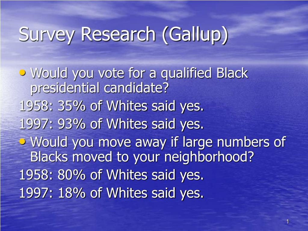 survey research gallup l.