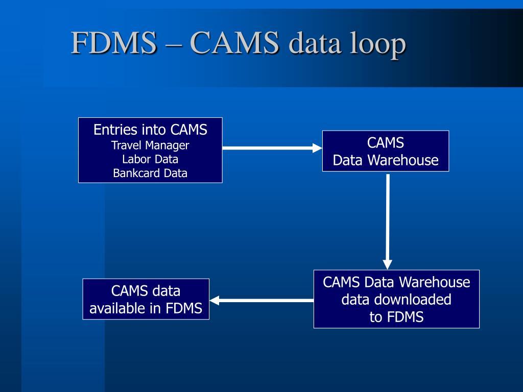 FDMS – CAMS data loop