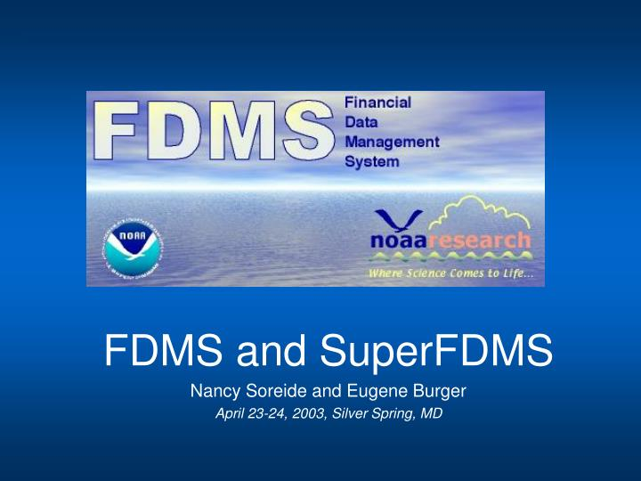 Fdms overview