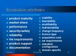 evaluation attributes36