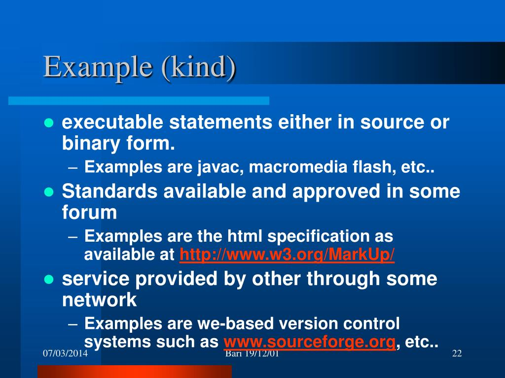 Example (kind)