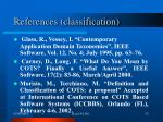references classification