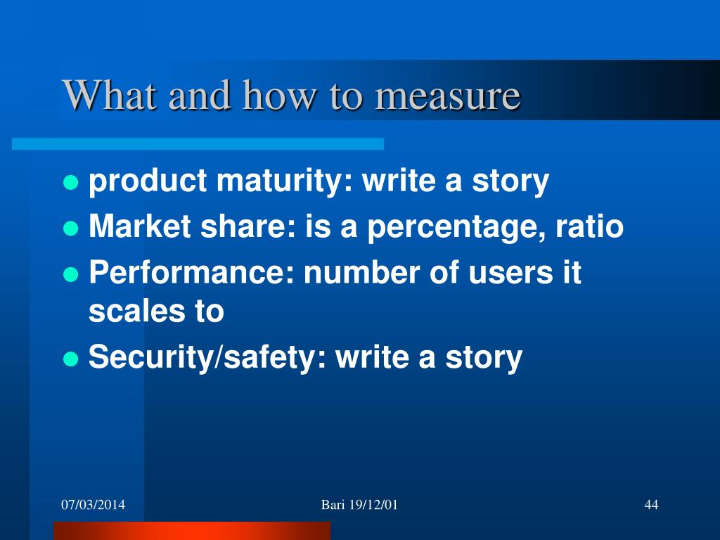 What and how to measure