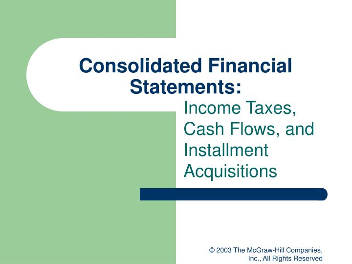 consolidated financial statements n.