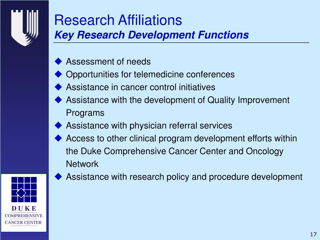 Research Affiliations