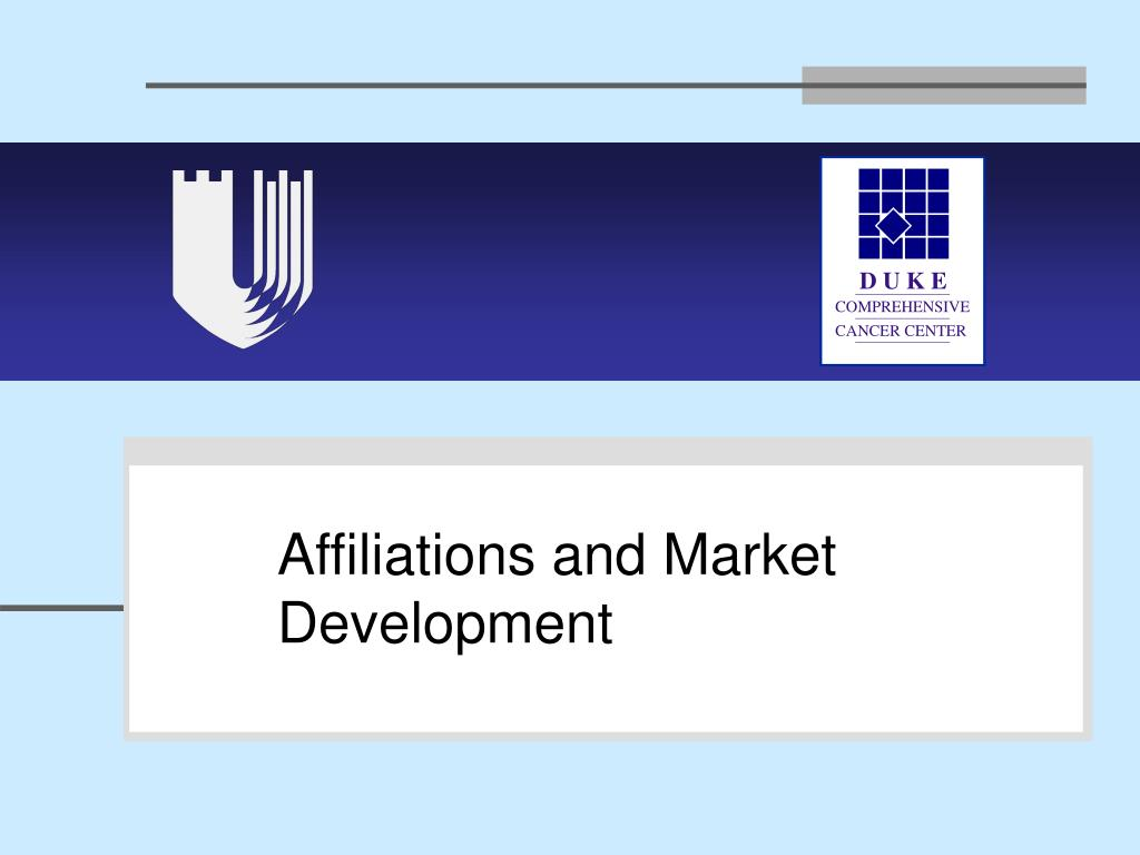 Affiliations and Market Development