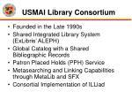 usmai library consortium