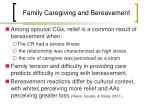 family caregiving and bereavement
