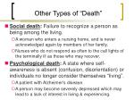 other types of death