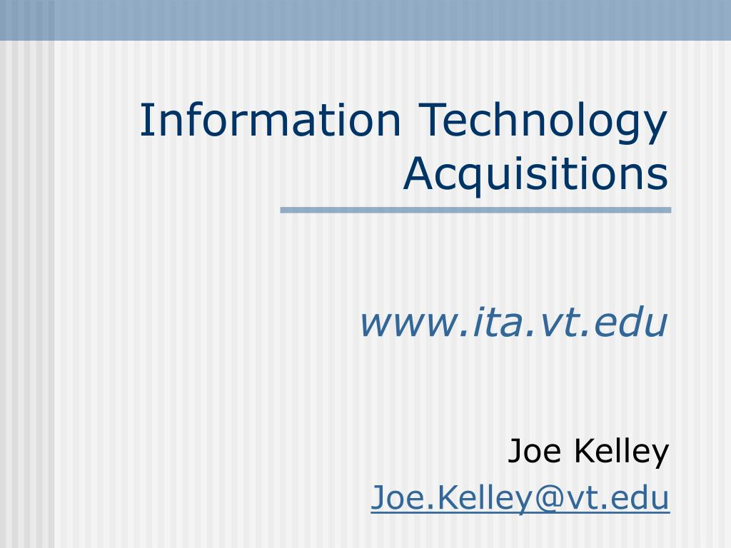 information technology acquisitions l.