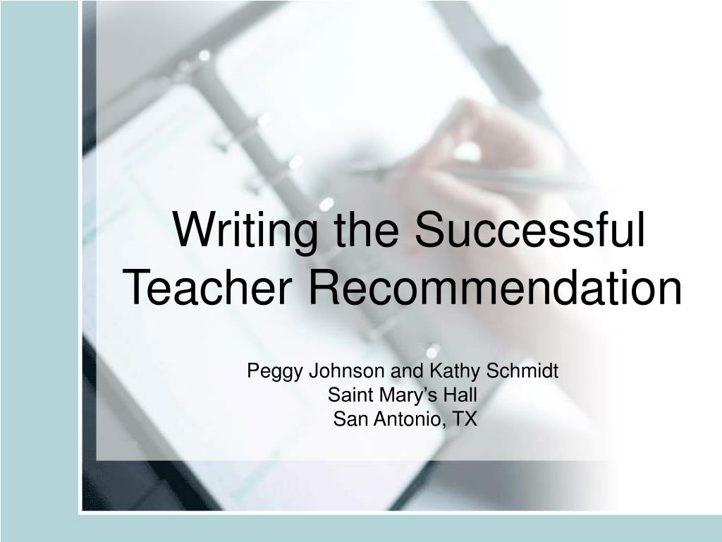 writing the successful teacher recommendation l.