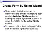 create form by using wizard56