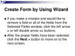 create form by using wizard57