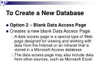 to create a new database8
