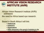 african vision research institute avri