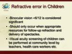 refractive error in children