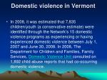 domestic violence in vermont