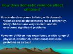 how does domestic violence affect children