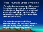 post traumatic stress syndrome