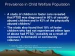 prevalence in child welfare population