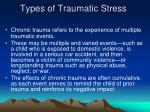 types of traumatic stress14