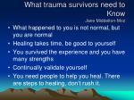 what trauma survivors need to know jane middelton moz