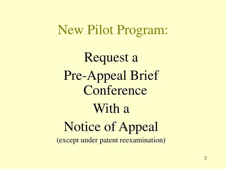 New pilot program