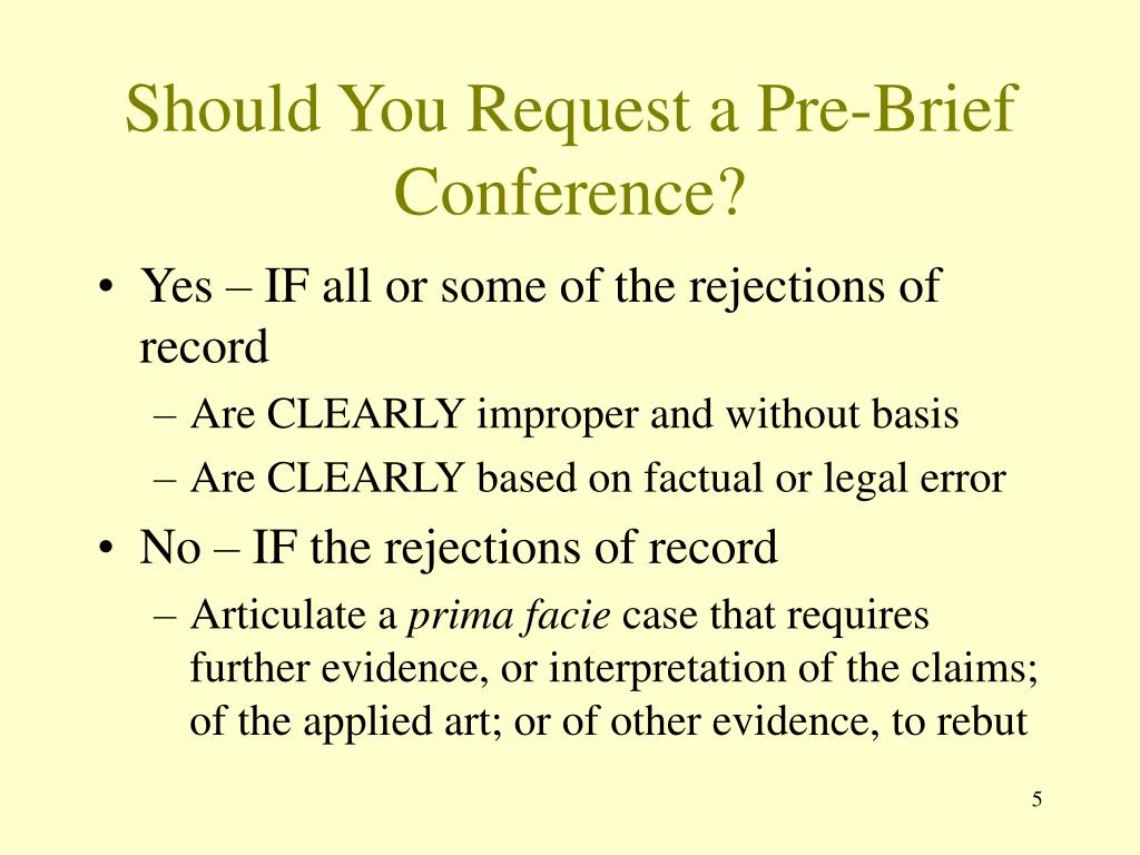 Should You Request a Pre-Brief Conference?