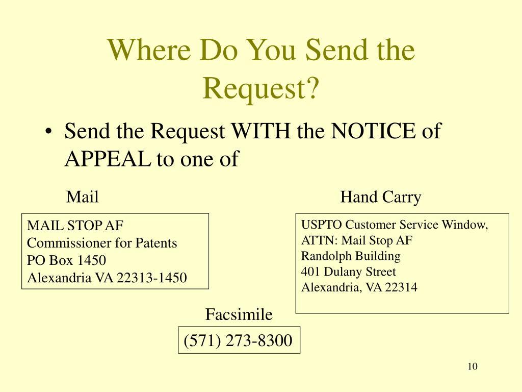 Where Do You Send the Request?