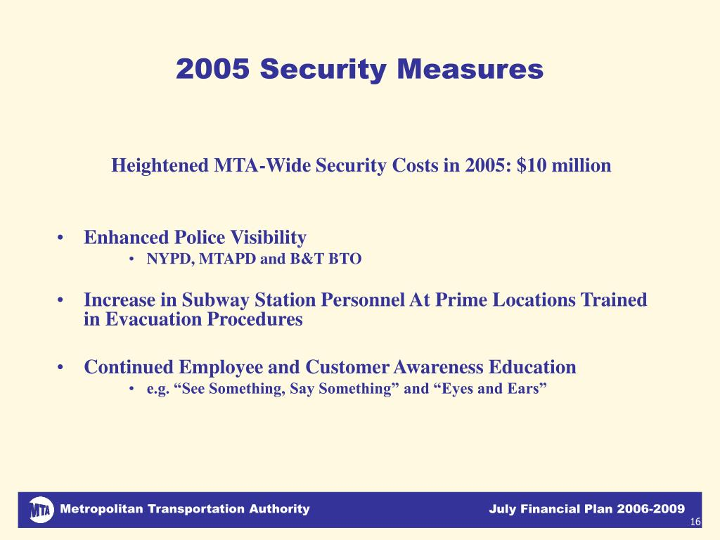 2005 Security Measures