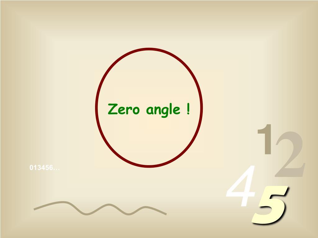 Zero angle !