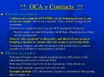 oca contracts