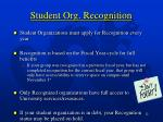 student org recognition