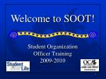 student organization officer training 2009 2010