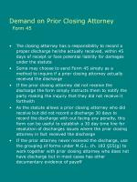 demand on prior closing attorney