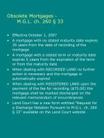obsolete mortgages m g l ch 260 33