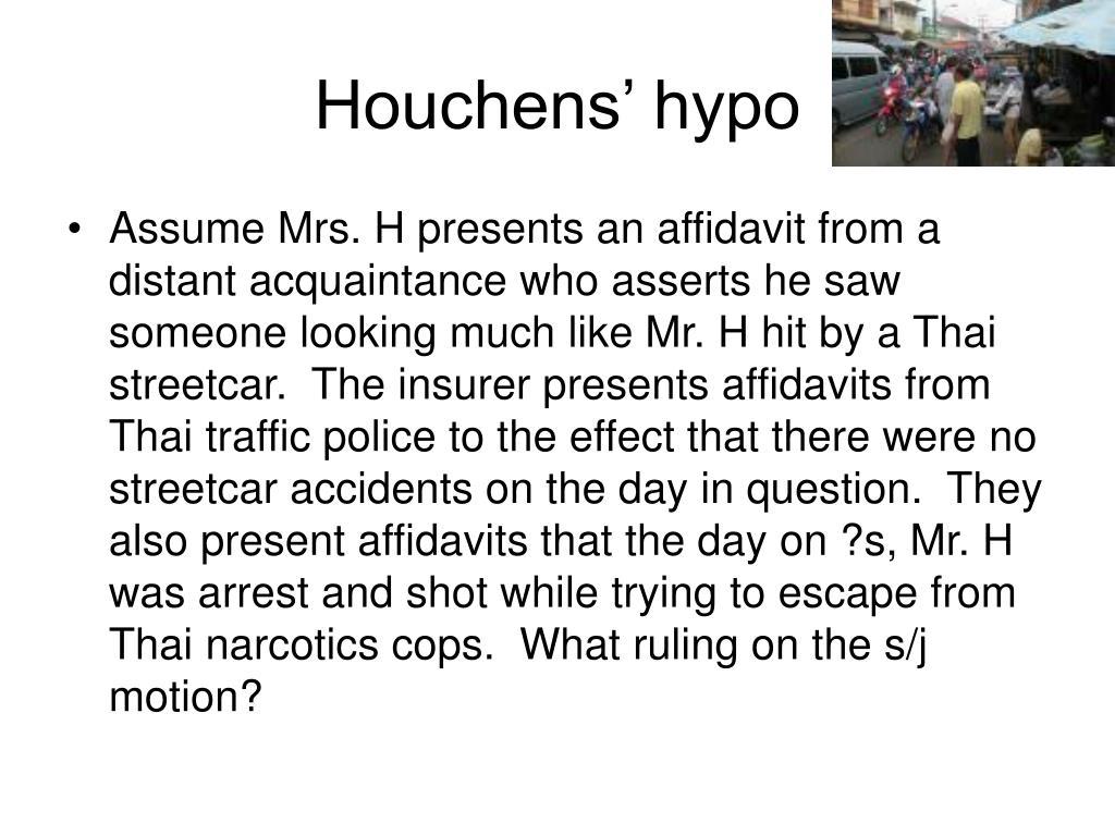 Houchens' hypo