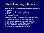 basic learning behavior
