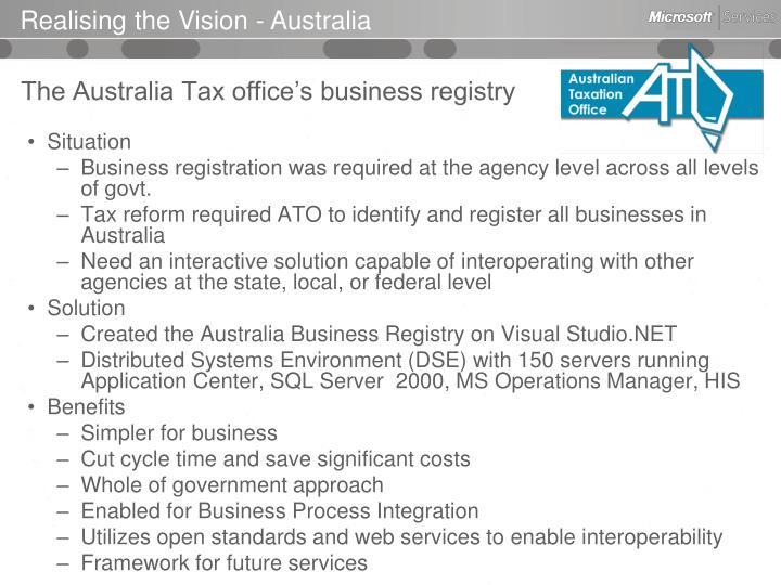 Realising the Vision - Australia
