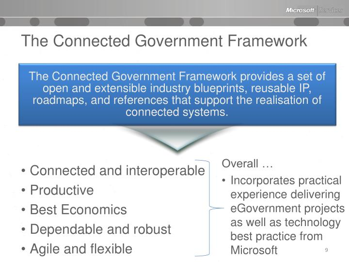 The Connected Government Framework