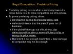illegal competition predatory pricing