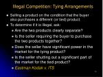 illegal competition tying arrangements