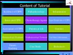 content of tutorial